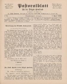 Pastoralblatt für die Diözese Ermland, 34.Jahrgang, 1. April 1902, Nr 4.