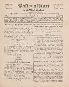 Pastoralblatt für die Diözese Ermland, 34.Jahrgang, 1. Juli 1902, Nr 7.