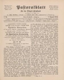 Pastoralblatt für die Diözese Ermland, 34.Jahrgang, 1. August 1902, Nr 8.