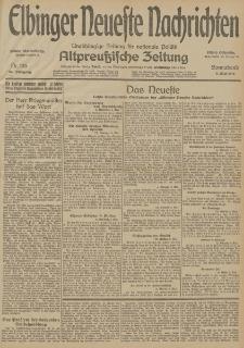Elbinger Neueste Nachrichten, Nr. 126 Sonnabend 9 Mai 1914 66. Jahrgang