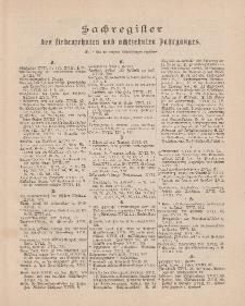 Pastoralblatt für die Diözese Ermland (Sachregister des 17 und 18 Jahrganges)
