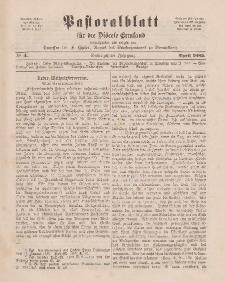 Pastoralblatt für die Diözese Ermland, 17.Jahrgang, April 1885, Nr 4.