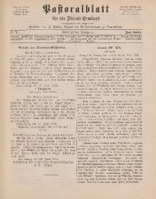 Pastoralblatt für die Diözese Ermland, 17.Jahrgang, Juli 1885, Nr 7.