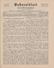 Pastoralblatt für die Diözese Ermland, 17.Jahrgang, September 1885, Nr 9.