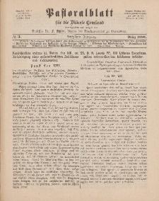 Pastoralblatt für die Diözese Ermland, 18.Jahrgang, März 1886, Nr 3.