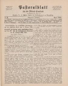 Pastoralblatt für die Diözese Ermland, 18.Jahrgang, April 1886, Nr 4.