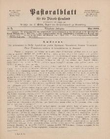 Pastoralblatt für die Diözese Ermland, 18.Jahrgang, Mai 1886, Nr 5.