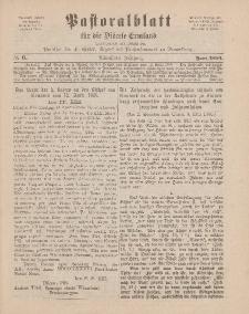 Pastoralblatt für die Diözese Ermland, 18.Jahrgang, Juni 1886, Nr 6.