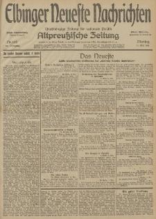 Elbinger Neueste Nachrichten, Nr. 128 Montag 11 Mai 1914 66. Jahrgang