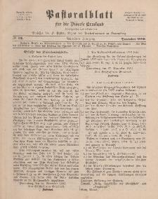 Pastoralblatt für die Diözese Ermland, 18.Jahrgang, Dezember 1886, Nr 12.