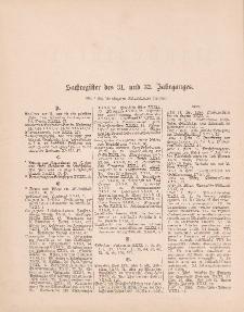 Pastoralblatt für die Diözese Ermland (Sachregister des 31 und 32 Jahrganges)