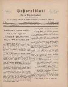Pastoralblatt für die Diözese Ermland, 31.Jahrgang, 1. August 1899, Nr 8.