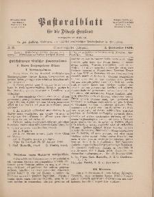 Pastoralblatt für die Diözese Ermland, 31.Jahrgang, 1. September 1899, Nr 9.