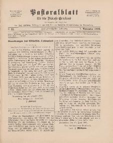 Pastoralblatt für die Diözese Ermland, 32.Jahrgang, 1. November 1900, Nr 11.