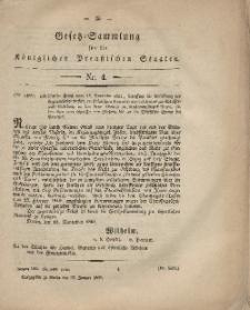 Gesetz-Sammlung für die Königlichen Preussischen Staaten, 27. Januar, 1862, nr. 4.