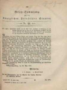 Gesetz-Sammlung für die Königlichen Preussischen Staaten, 3. Juli, 1862, nr. 23.