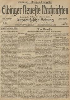 Elbinger Neueste Nachrichten, Nr. 134 Sonntag 17 Mai 1914 66. Jahrgang