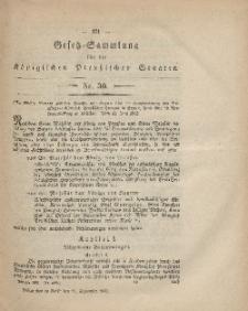 Gesetz-Sammlung für die Königlichen Preussischen Staaten, 11. September, 1862, nr. 30.