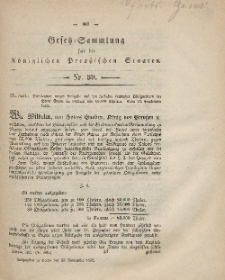 Gesetz-Sammlung für die Königlichen Preussischen Staaten, 20. November, 1862, nr. 39.