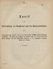 Gesetz-Sammlung für die Königlichen Preussischen Staaten (Tarif ; Anmeldung), 1868