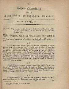 Gesetz-Sammlung für die Königlichen Preussischen Staaten, 30. März, 1868, nr. 20.