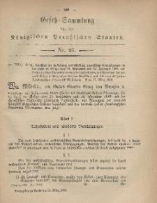 Gesetz-Sammlung für die Königlichen Preussischen Staaten, 31. März, 1868, nr. 21.
