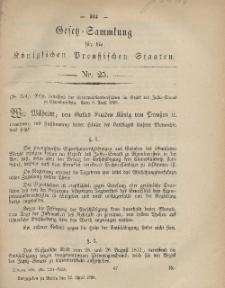 Gesetz-Sammlung für die Königlichen Preussischen Staaten, 22. April, 1868, nr. 25.