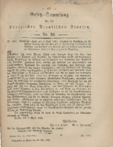Gesetz-Sammlung für die Königlichen Preussischen Staaten, 29. Mai, 1868, nr. 35.