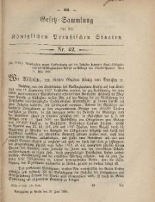 Gesetz-Sammlung für die Königlichen Preussischen Staaten, 26. Juni, 1868, nr. 42.