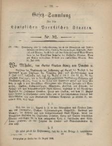 Gesetz-Sammlung für die Königlichen Preussischen Staaten, 10. August, 1868, nr. 52.