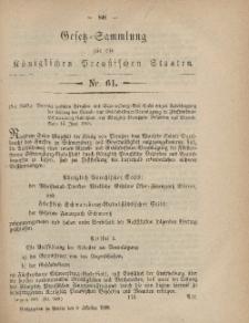 Gesetz-Sammlung für die Königlichen Preussischen Staaten, 8. Oktober, 1868, nr. 61.