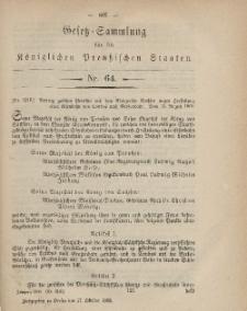 Gesetz-Sammlung für die Königlichen Preussischen Staaten, 17. Oktober, 1868, nr. 64.