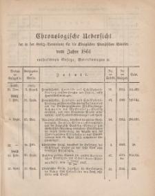 Gesetz-Sammlung für die Königlichen Preussischen Staaten (Chronologische Uebersicht), 1864