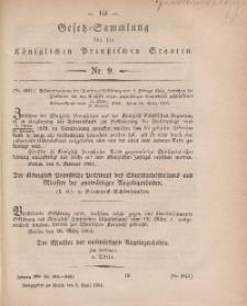 Gesetz-Sammlung für die Königlichen Preussischen Staaten, 8. April, 1864, nr. 9.