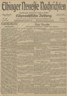 Elbinger Neueste Nachrichten, Nr. 145 Freitag 29 Mai 1914 66. Jahrgang