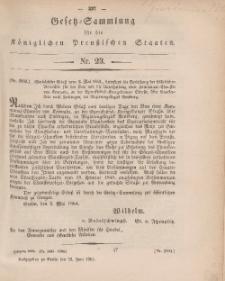 Gesetz-Sammlung für die Königlichen Preussischen Staaten, 25. Juni, 1864, nr. 23.