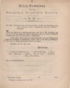 Gesetz-Sammlung für die Königlichen Preussischen Staaten, 16. Juli, 1864, nr. 25.
