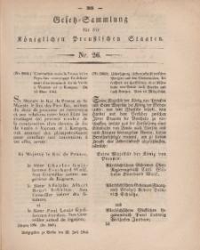 Gesetz-Sammlung für die Königlichen Preussischen Staaten, 22. Juli, 1864, nr. 26.