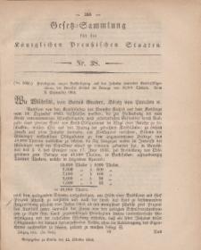 Gesetz-Sammlung für die Königlichen Preussischen Staaten, 12. Oktober, 1864, nr. 38.