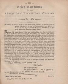 Gesetz-Sammlung für die Königlichen Preussischen Staaten, 12. Dezember, 1864, nr. 45.