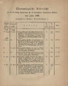 Gesetz-Sammlung für die Königlichen Preussischen Staaten (Chronologische Uebersicht), 1869