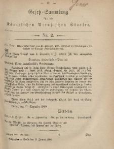 Gesetz-Sammlung für die Königlichen Preussischen Staaten, 12. Januar, 1869, nr. 2.