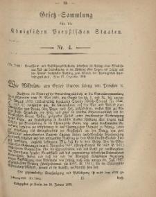 Gesetz-Sammlung für die Königlichen Preussischen Staaten, 14. Januar, 1869, nr. 4.