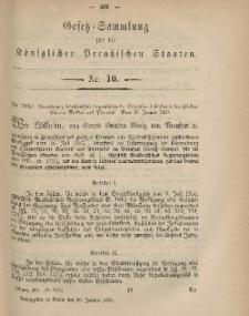 Gesetz-Sammlung für die Königlichen Preussischen Staaten, 30. Januar, 1869, nr. 10.