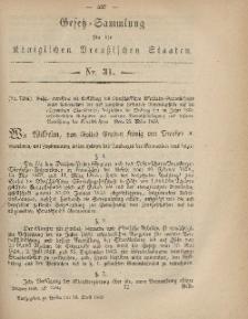 Gesetz-Sammlung für die Königlichen Preussischen Staaten, 24. April, 1869, nr. 31.