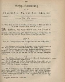 Gesetz-Sammlung für die Königlichen Preussischen Staaten, 7. Mai, 1869, nr. 35.
