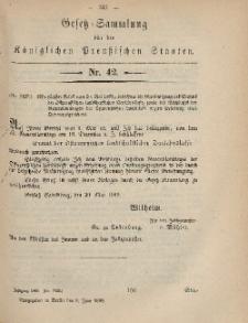 Gesetz-Sammlung für die Königlichen Preussischen Staaten, 8. Juni, 1869, nr. 42.
