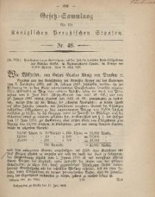 Gesetz-Sammlung für die Königlichen Preussischen Staaten, 17. Juli, 1869, nr. 48.