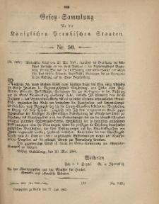 Gesetz-Sammlung für die Königlichen Preussischen Staaten, 27. Juli, 1869, nr. 50.