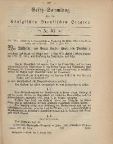 Gesetz-Sammlung für die Königlichen Preussischen Staaten, 2. August, 1869, nr. 51.